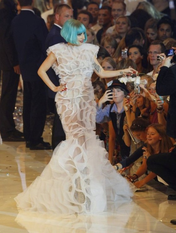 LADY GAGA in LEVER COUTURE