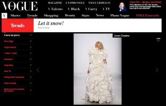 LEVER COUTURE featured by Vogue Italia