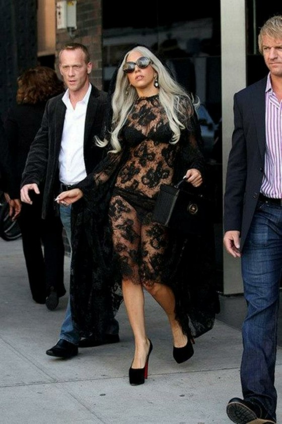 Lady Gaga in New York in LeverCouture
