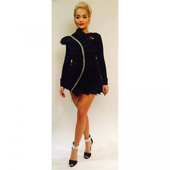 Rita Ora in LEVER COUTURE