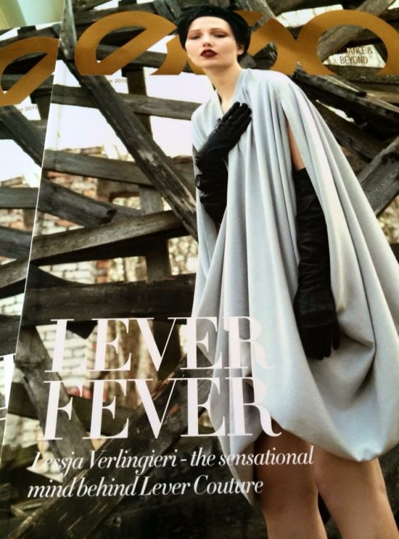LEVER COUTURE is the cover story by the dubai luxury magazine EGO